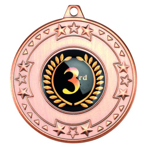 Bronze Tri-Star Medal - 2in