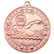 Bronze Swimming Tri-Star Medal - 2in