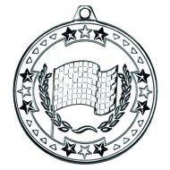 Silver Motor Sport Tri-Star Medal - 2in