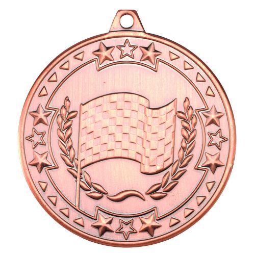 Bronze Motor Sport Tri-Star Medal - 2in