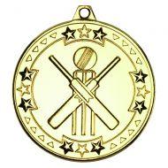 Gold Cricket Tri-Star Medal - 2in