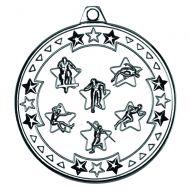 Silver Multi Athletics Tri-Star Medal - 2in