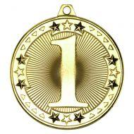Gold 1st Tri-Star Medal - 2in
