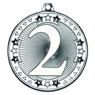 Silver 2nd Tri-Star Medal - 2in