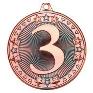 Bronze 3rd Tri-Star Medal - 2in