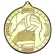 Gold Gaelic Football Celtic Medal - 2in