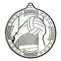 Silver Gaelic Football Celtic Medal - 2in