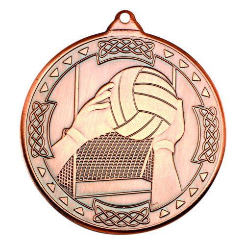 Bronze Gaelic Football Celtic Medal - 2in