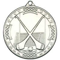 Silver Hurling Celtic Medal - 2in
