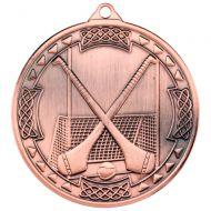 Bronze Hurling Celtic Medal - 2in