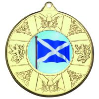 Gold Scotland Medal - 2in (New 2014)