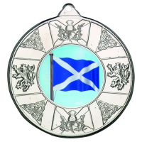 Silver Scotland Medal - 2in (New 2014)