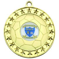 Gold Footy Medal - 2.75in