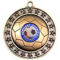 Antique Gold Footy Medal - 2.75in