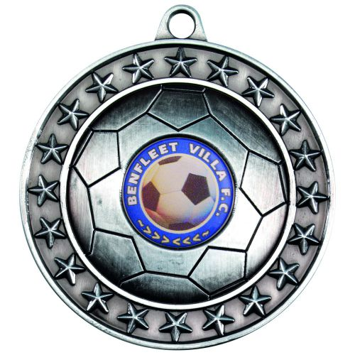 Antique Silver Footy Medal - 2.75in