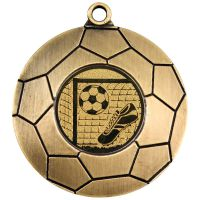 Antique Gold Domed Footy Medal - 2in