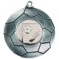 Antique Silver Domed Footy Medal - 2in