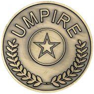 Umpire Medallion - Antique Gold - 2.75in