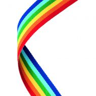 Medal Ribbon Rainbow 30 X 0.875in