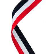 Medal Ribbon Red White Black 30 X 0.875in