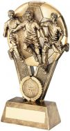 Bronze / Gold Male Multi Footballer On Ball Trophy Award - 6in