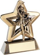 Bronze/Gold Ballet Mini Star Trophy 3.75in