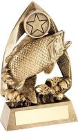 Bronze/Gold/Gold Angling Diamond Collection Trophy Award - 5.75in