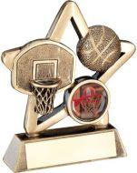 Bronze/Gold Basketball Mini Star Trophy 3.75in