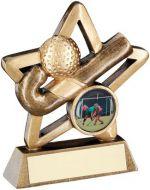 Bronze/Gold Hockey Mini Star Trophy 3.75in