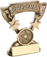 Bronze/Gold Achievement Mini Cup Trophy - (1in Centre) 3.75in