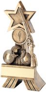 Bronze/Gold Rifle And Clay Shooting Star Trophy 5in