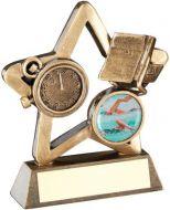 Bronze/Gold Swimming Mini Star Trophy 3.75in