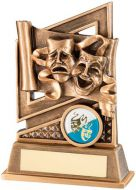 Bronze/Gold Drama Diamond Series Trophy 5.25in