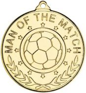 Football Man Of The Match Medal - 2in