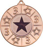 4 Star Medal - 3rd Bronze (1in Centre) 2in