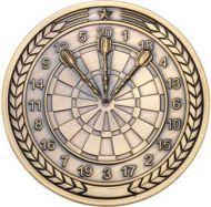 Darts Medallion Antique Gold 2.75in