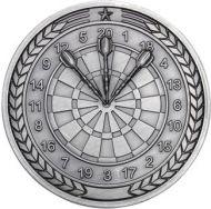 Darts Medallion Antique Silver 2.75in