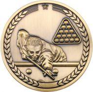 Pool/Snooker Medallion Antique Gold 2.75in