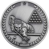 Pool/Snooker Medallion Antique Silver 2.75in