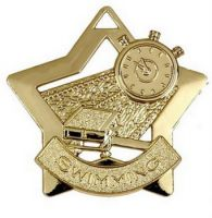 Mini Star Swimming Medal Gold 60mm