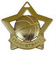 Mini Star Basketball Medal