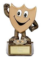 Gold Shield Trophy Award Man