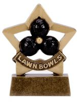 Mini Star Lawn Bowls Trophy Award (New 2010)