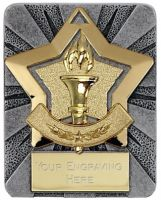Mini Star Victory Medal Gold 60mm