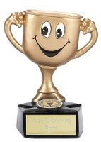 Gold Cup Trophy Award Man