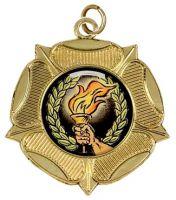 Luxtudorrose50 Medal Gold 50mm