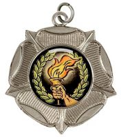 Luxtudorrose50 Medal Silver 50mm