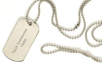 Chain For Dogtag Silver 30 Inch
