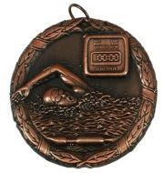 Laurel50 Swimming Medal Bronze 50mm