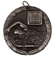 Laurel50 Swimming Medal Silver 50mm